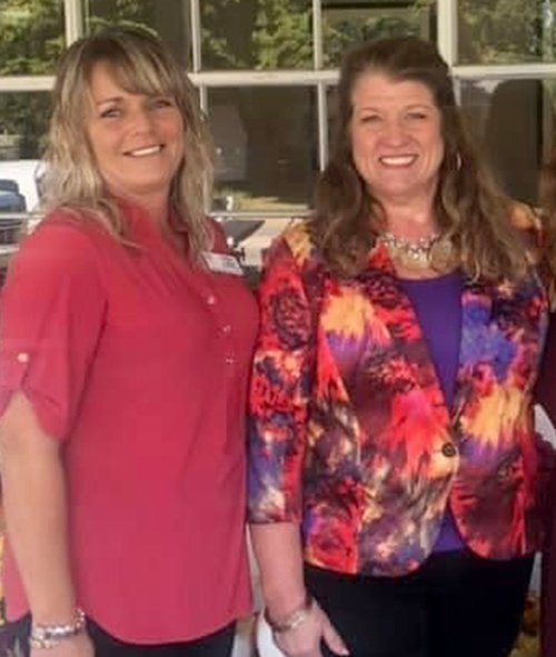 Ashley LaHue, PEARL Executive Director and Karen Slater, P.E.A.R.L. Founder & Board President